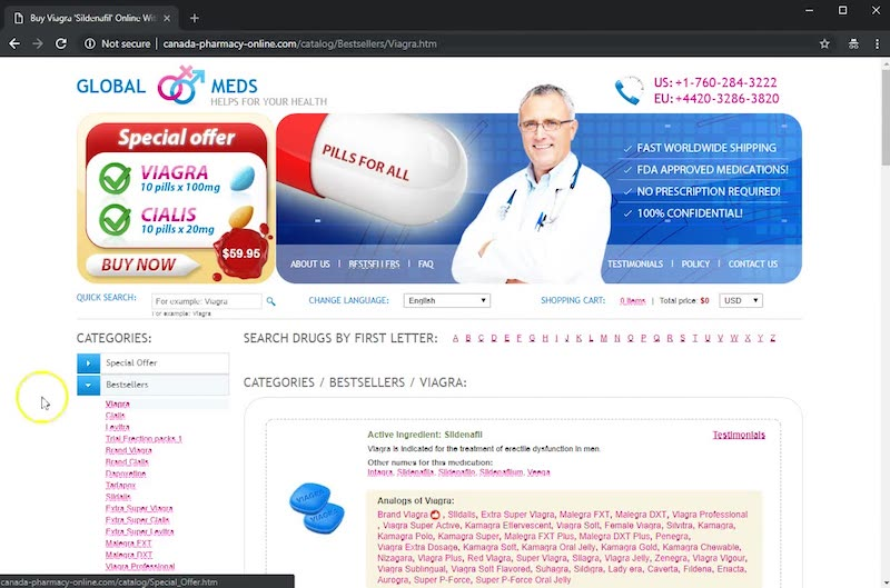 OTCViagra Redirect To Different Page